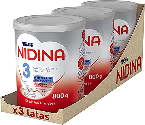 NIDINA Leche De Crecimiento A Partir De Los 12 Meses X800g, 3 Unidad