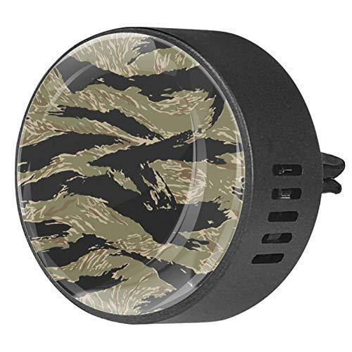 2pcs Difusor de aromaterapia Difusor de aceite esencial para automóvil Vent Clabio Tiger Striped Camouflage