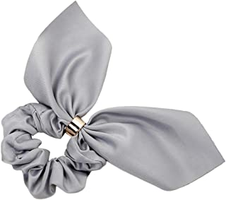 Perfeclan Hair Elastics With Bow For Ponytail - Gray, 10cm