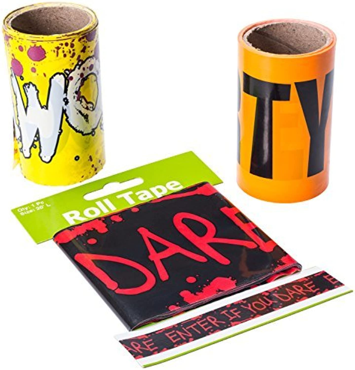 Halloween Party Supplies Set  3 Roles Horror Tape With 2 Zombie Party Posters for Photo Props and Home Decoration's by DWS