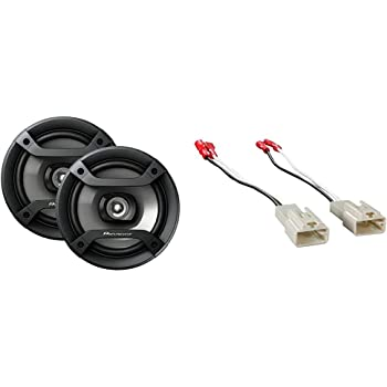 "Pioneer TS-F1634R 6.5"" 200W 2-Way Speakers Bundle with Metra 72-8104 Speaker Connector for Select Toyota Vehicles"