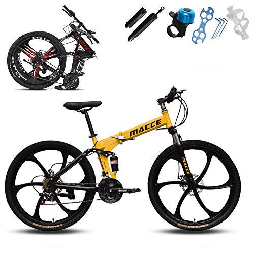 XWDQ 22 pulgadas 24 pulgadas bicicleta de montaña velocidad doble freno todoterreno carreras, color 61 cm., tamaño 27 speed