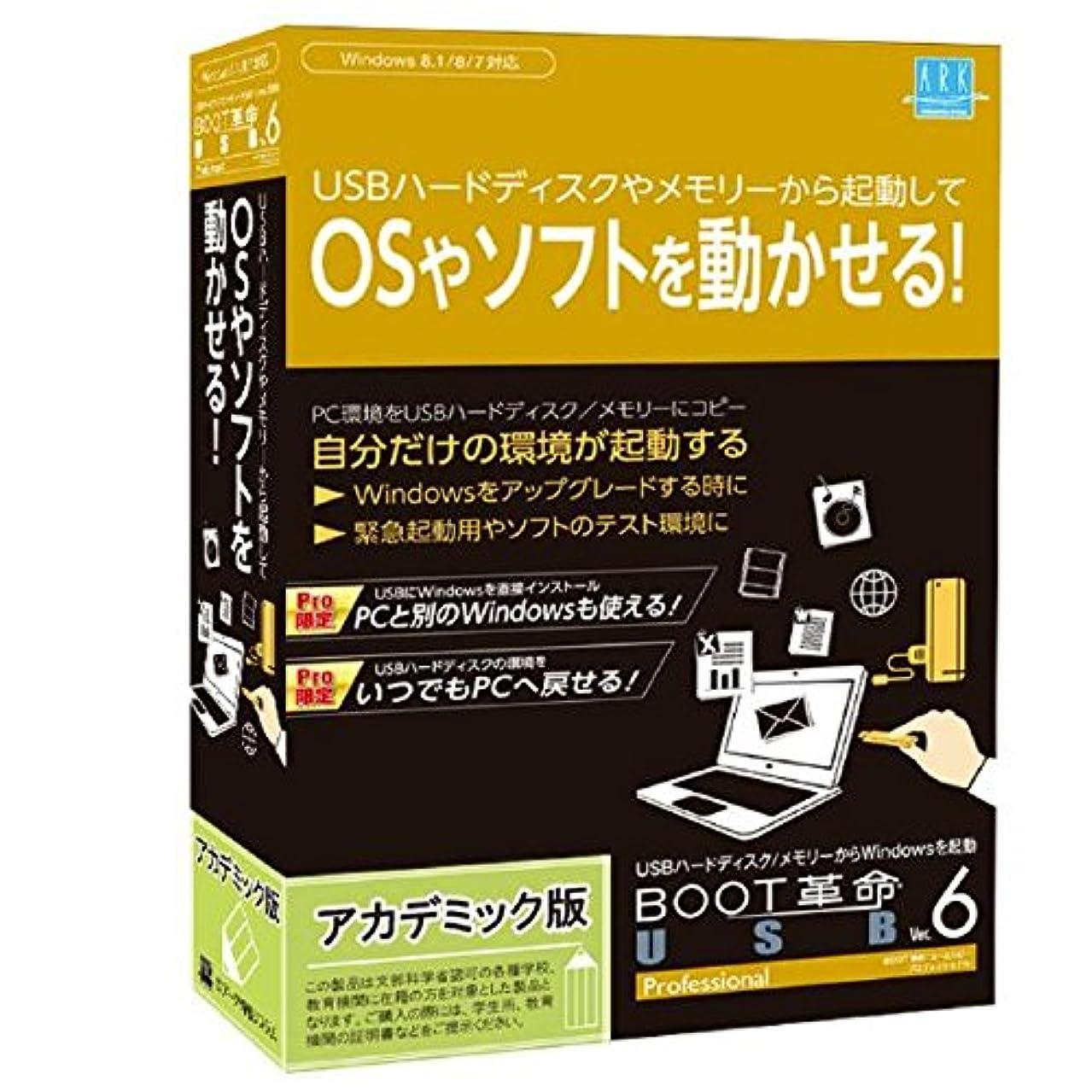 測る夜の動物園薄めるアーク情報システム BOOT革命/USB Ver.6 Professional アカデミック