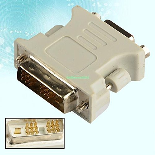 VGA Female to DVI D Single Link Male 18 1 Pin Adapter for Graphic Card Durable