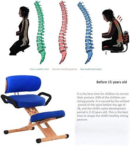 QSHG Kniend Stühle Computer Stuhl Bürostühle Bürostühle Ergonomischer mit Rückenlehne mit Griff Hohe Adjustable Richtige Sitzhaltung Kleine Hocker (Color : Green)