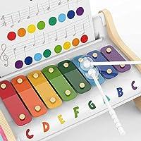 TOP BRIGHT Xilofono in Legno per Bambini – Strumento Musicale Giocattolo per Bambini di 1 Anno con 3 Spartiti – Tasti Colorati, Gioco educativo #2