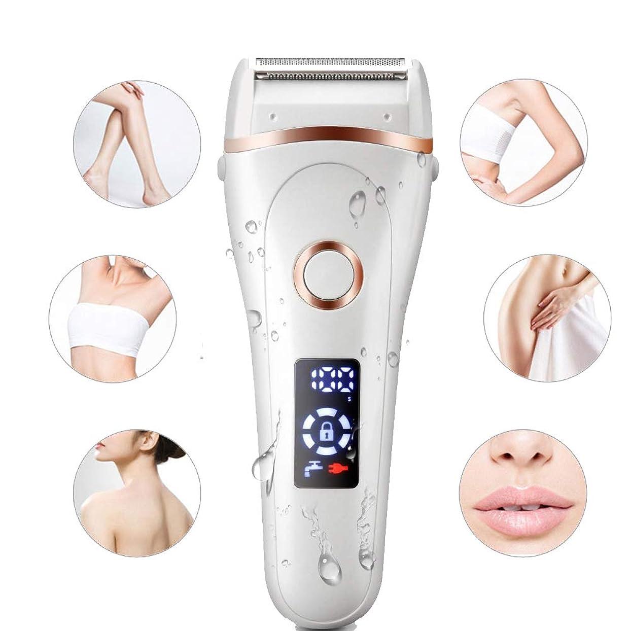 ファンブル無意味に渡って女性の電気顔の脱毛器、防水と痛みのない脱毛器、顔体ビキニの安全なトリマー