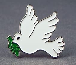 Metal Enamel Pin Badge Dove of Peace