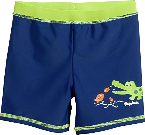 Playshoes Jungen UV-Schutz Short Krokodil Badehose, Blau (Marine 11), 86
