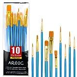 Juego de pinceles de pintura acrílica, cepillos de pelo de nailon para todo tipo de uso, óleo,...