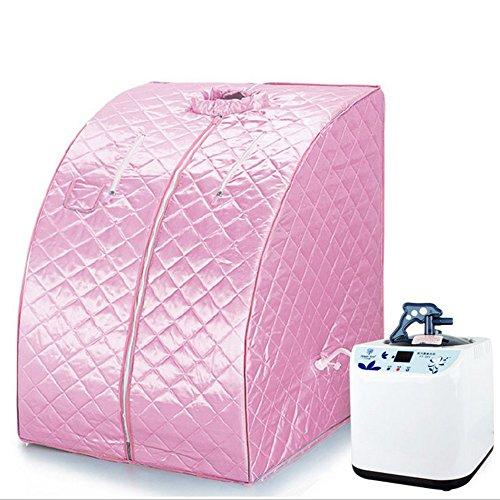 Mobile Sauna Box Portatile a Vapore SPA a Casa Famiglia Telecomando Dimagrante snellente - Rosa