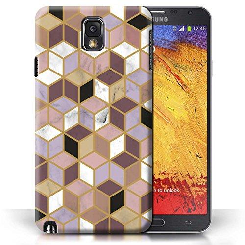 Stuff4® hoes/case voor Samsung Galaxy Note 3 / geometrische blokjes patroon/geometrisch marmer patroon collectie