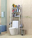 Shelzi Bathroom Accessories Set for Home Perfect Over The Toilet Bathroom Rack 3-Shelf Bathroom Organizer Over The Toilet, Bathroom Storage Enhancer with Towel Holder