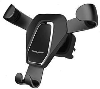 One Touch Gravity Auto-Clamping Rotating Adjustable 360° Rotation Metal Multi-Angle Universal Car Vent Phone Mount Holder Cradle Car Vehicle Air Vent GPS Apple iPhone Samsung Android (Black)