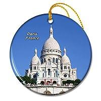 パリの聖心のフランス大聖堂クリスマスオーナメントセラミックシート旅行お土産ギフト
