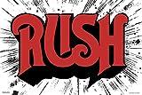 Pyramid America Rush Classic Logo Album Cover Art Retro Vintage Style Rock Band Music Cool Wall Decor Art Print Poster 24x36