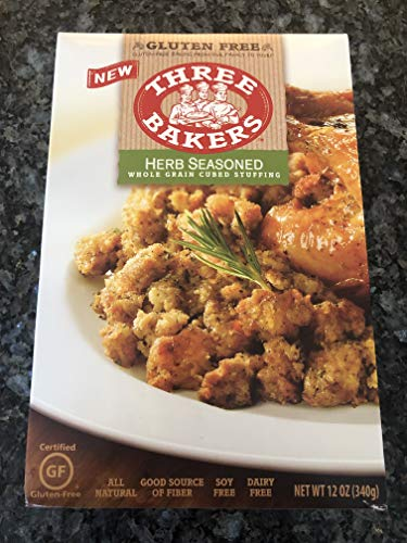 Three Bakers Stuffing Cubed Gf Hrb Whl 12 Oz [2 Pack]