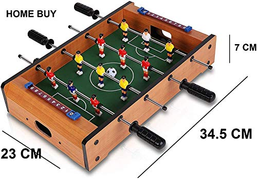 HOME BUY 4 Rods Small Football Table Soccer Game,( 34.5 cm )