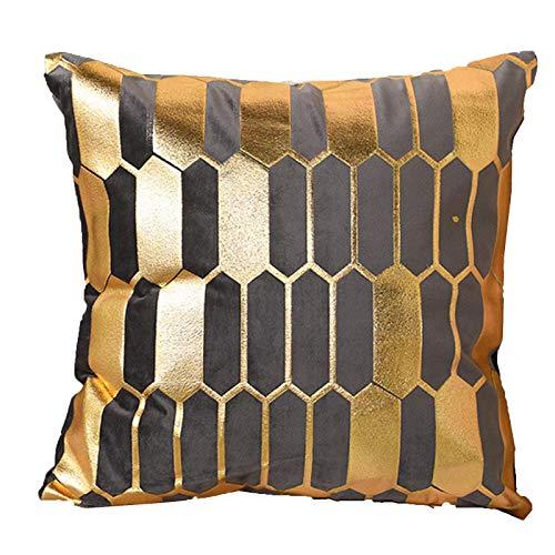 Evaner Funda de cojín para sofá de 45 x 45 cm, funda de cojín decorativa con cremallera oculta, para sofá, dormitorio, funda de cojín suave de estilo nórdico para el hogar, 1 pieza