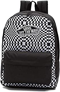 Warped Checkerboard Realm Black and White Backpack