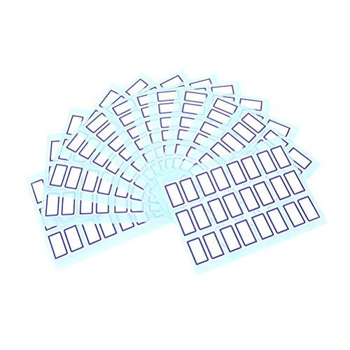BLOUR 12 Fogli/Pacco Adesivi Vuoti Possono Essere utilizzati su Quasi Tutti i Tipi di Carta Bianca Pulita per superfici Solide