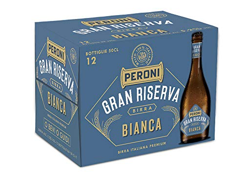Birra Peroni Gran Riserva Bianca - Birra Italiana Premium - 12 Bottiglie x 50 cl (6 litri)