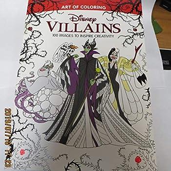 Paperback Art of Coloring: Disney Villains (Walmart Black Friday Custom Pub): 100 Images to Inspire Creativity Book