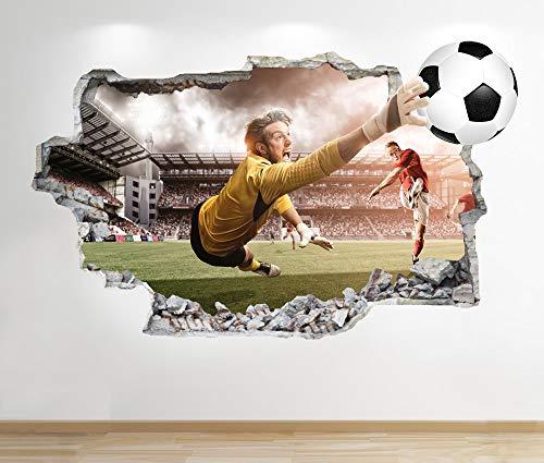 1Stop Graphics Shop Stadio di Calcio Adesivo da Parete 3D Look - Ragazzi cameretta Bambini da Parete, Decalcomania Z530 - Large: 70 cm x 111 cm