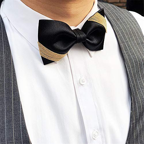 Ju-sheng Corbata Corbata de Lazo clásica de Seda Dorada para ...