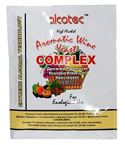 Alcotec Wijngist Universal 40g - AROMATISCHE WINE COMPLEX - Gist + Nutrient + Enzymen - Home Brew Yeasts, Wijn maken Gist, Homebrew, Wijnmeter.