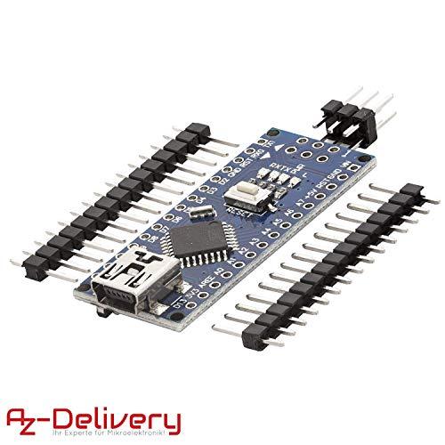 AZDelivery Nano V3.0 mit Atmega328 CH340 mit gratis eBook! 100% Arduino kompatibel mit Nano V3