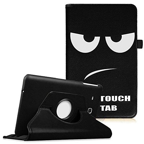 Fintie Hülle für Samsung Galaxy Tab E T560N / T561N 24,3 cm (9,6 Zoll) Tablet-PC - 360° Drehbarer Stand Cover Premium Kunstleder Schutzhülle Tasche Etui mit Ständerfunktion, Don't Touch