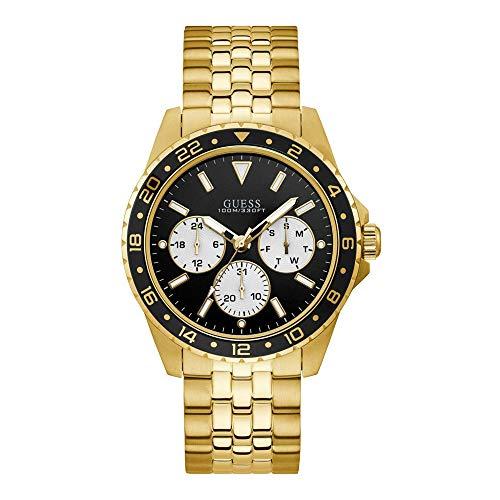 Guess Odyssey - Armbanduhr - Quarzuhr - Herrenuhr - Multifunktion - Edelstahl - goldfarben - poliert/mattiert