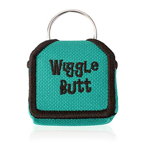 The Tag Bag - Dog Tag Silencer (Wiggle Butt/Teal)