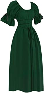 ReooLy Frauen Vintage Short Petal Hülse O-Ansatz Mittelalterlichen Kleid Cosplay Kleid