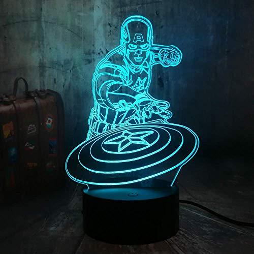 Comic Night Light 3D Illusion Led Changement De Couleur Tactile Télécommande Lampe De Table Pour Enfants Jouet Pour Enfants Cadeau