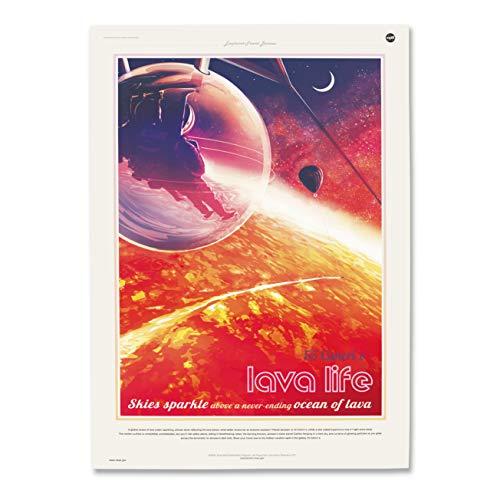 "Nukular Kunstdruck Poster A3 ""55 Cancri e (Lava Life)"" Weltraum NASA Space Jpl Erde Science Bild Gemälde"