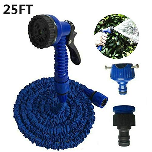 Expandable Garden Hose, Garden Hose Flexible Water Pipe Double Layers Retractable Water Hose Trampoline Water Sprinkler for Garden Greenhouse Patio Trampoline, 25/50/75/100/125/150 FT ( Color : 25ft )