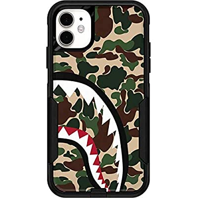 Skinit Decal Skin for OtterBox Commuter iPhone 11 - Officially Licensed Originally Designed Shark Teeth Street Camo Design