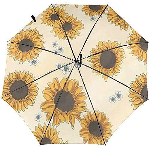 Sunflowers Travel Regenschirm, zusammenklappbar, automatisch, Sonnenschutz, windfest, ATU-1211