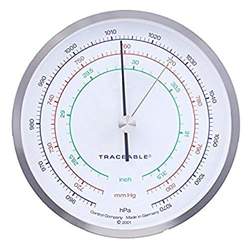 Control Company 4199 - Barómetro de precisión con dial de precisión, color níquel chapado en cromo