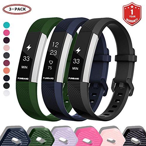 FunBand Correa para Fitbit Alta HR y Fitbit Alta, Edición Especial Soft Silicona Deportes Recambio de Pulseras Ajustable Reemplazo Accesorios para Reloj Fitbit Alta HR y Fitbit Alta