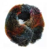 FERETI® Sciarpa Corto Di Ecopelliccia Multicolore Donna Collo Sintetica Volpe scaldacollo pelliccia Fascia Per Capelli