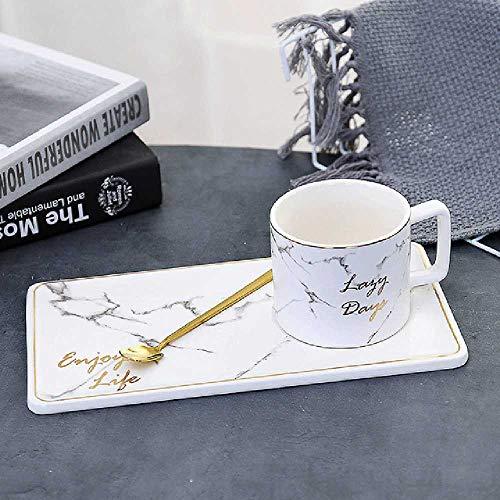 ghjg 250/500ml Mármol Grano De mármol taza de café conjunto esbozo en oro oficina de negocios leche taza de té Creative Europe tazas para regalo Juego de tazas blancas de 250 ml