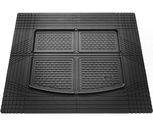 3D MAXpider Universal Zuschneidbar Allwetter Kofferraummatte Hybrid Gummi Kofferraum Matte für Autos LKWs SUVs