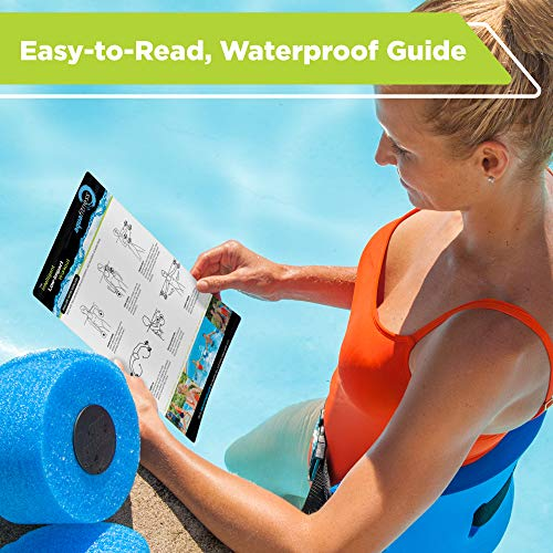 New & Improved AQUA 6 Piece Fitness Set for Water Aerobics, Pool Exercise Equipment, Aquatic Swim Belt, Resistance Gloves, Barbells, Model:AF4730 6