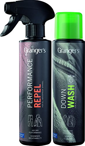 Granger's Down Wash & Performance Repel Waterproofing Spray For Outerwear Combo Pack / Clean and...