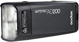 Godox AD200 Pocket Flash 2.4G TTL Speedlite Flash Strobe HSS Monolight with 2900mAh Lithium Battery 200WS and Bare Bulb Fl...