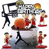 Decoración Para Tarta Baloncesto,10 Piezas Decoración de Cake de Baloncesto, Temáticas de Pasteles Para Hombres, La Sra,Jóvenes, Cumpleaños,Decoración Para Fiestas