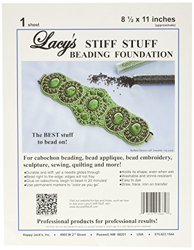 Lacy's Stiff Stuff Beading Foundation for Cabochons, 11 x 8.5'